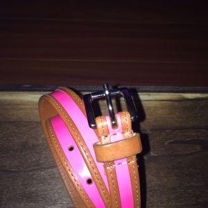 👑Michael Kors Hot Pink Leather Belt Sz. Med.